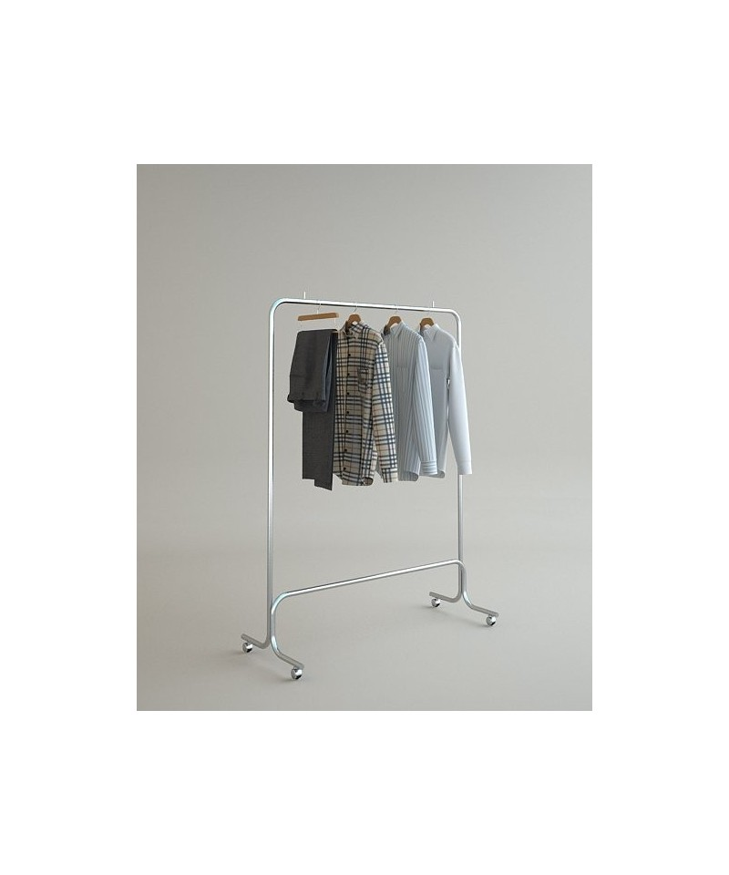 Вешало для одежды напольное одинарное на колесах 5m-01k