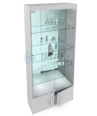 В-6-З Классическая стеклянная витрина №6-З задняя стенка зеркало