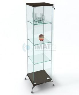 """ВК-450 LUX Витрина стеклянная """"Lux"""" на хромированных ножках"""