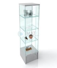 ВК-450 П  витрина-стаканчик стеклянная демонстрационная на подиуме 192-45-45