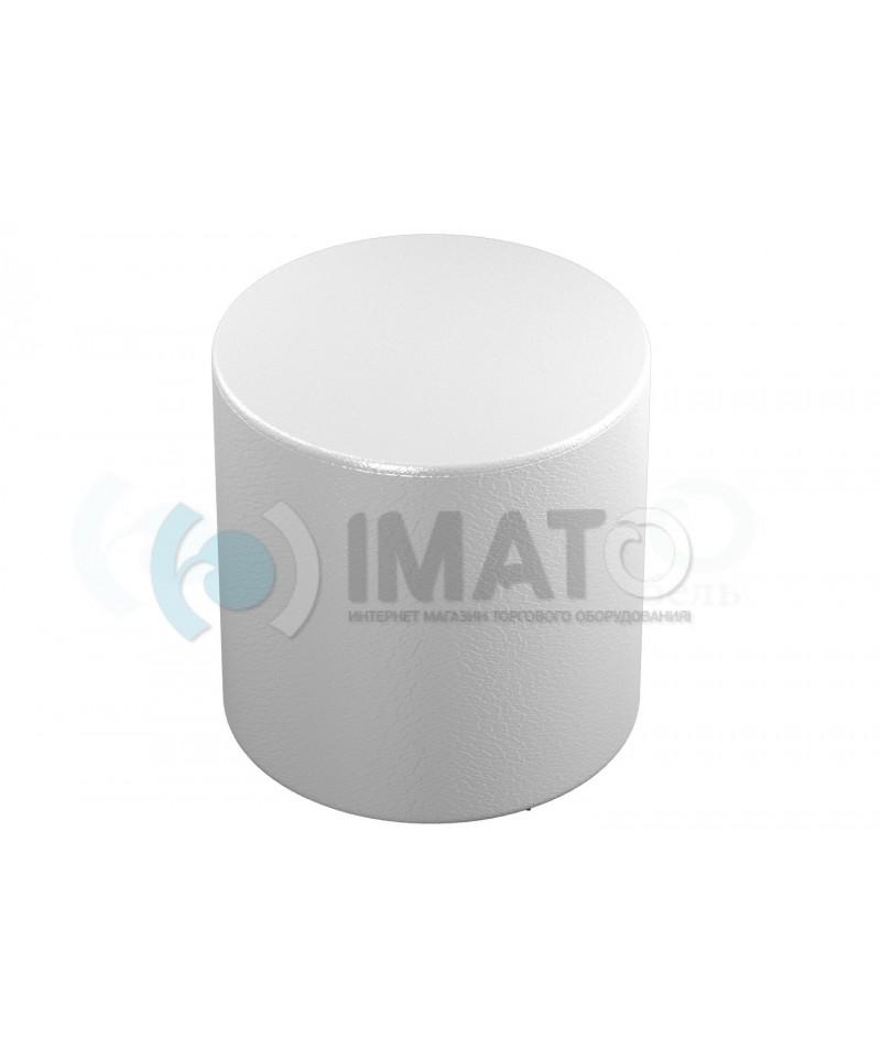 Банкетка-пуфик цилиндр белый