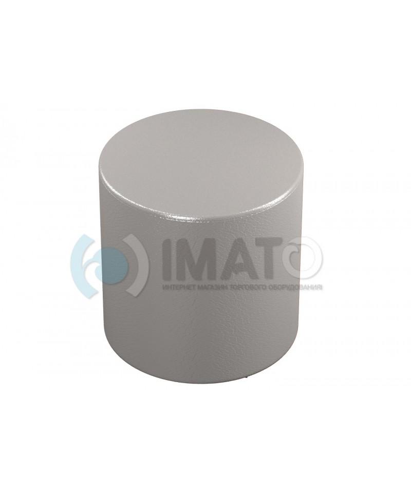 Банкетка-пуфик цилиндр серый