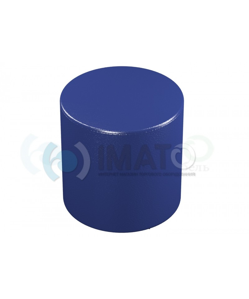 Банкетка-пуфик цилиндр синий