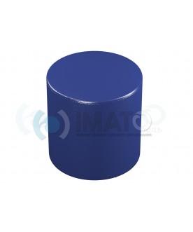 Пф-3 Банкетка-пуфик цилиндр синий