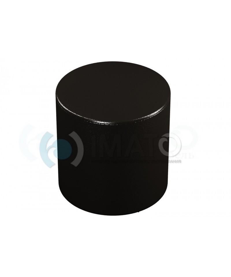 Банкетка-пуфик цилиндр черный
