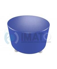 Банкетка-пуфик круглый синий