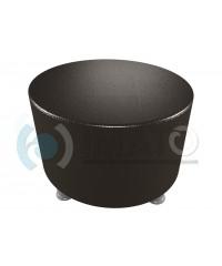 Банкетка-пуфик круглый черный