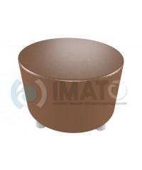 Банкетка-пуфик круглый коричневый