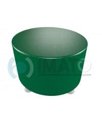 Пф-103 Банкетка-пуфик круглый зеленый