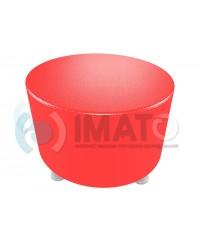 Пф-103 Банкетка-пуфик круглый красный