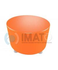 Пф-103 Банкетка-пуфик круглый оранжевый