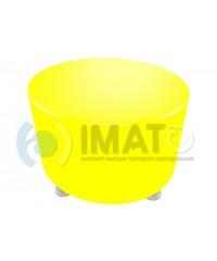Пф-103 Банкетка-пуфик круглый желтый