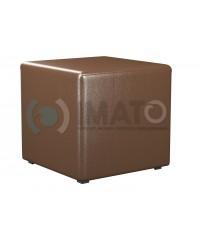 Пф-1 Банкетка-пуфик куб коричневый