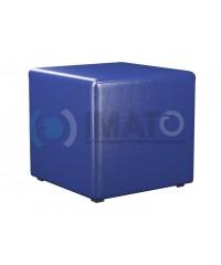 Пф-1 Банкетка-пуфик куб синий