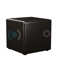 Пф-1 Банкетка-пуфик куб черный