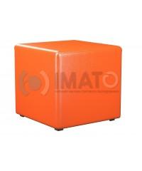 Пф-1 Банкетка-пуфик куб оранжевый
