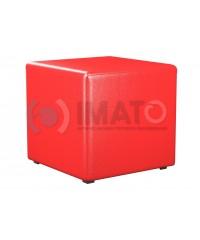 Пф-1 Банкетка-пуфик куб красный