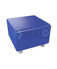 Пф-101 Банкетка-пуфик квадрат синий