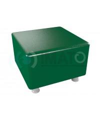 Пф-101 Банкетка-пуфик квадрат зеленый