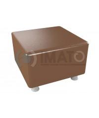 Пф-101 Банкетка-пуфик квадрат коричневый