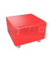 Пф-101 Банкетка-пуфик квадрат красный