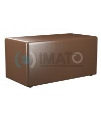 Пф-2 Банкетка-пуфик прямоугольник коричневый
