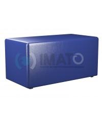Пф-2 Банкетка-пуфик прямоугольник синий