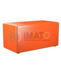 Пф-2 Банкетка-пуфик прямоугольник оранжевый