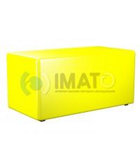 Пф-2 Банкетка-пуфик прямоугольник желтый