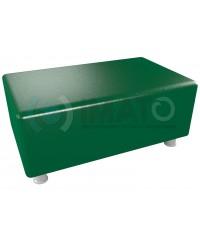 Пф-102 Банкетка-пуфик прямоугольник зеленый хром