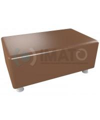 Пф-102 Банкетка-пуфик прямоугольник коричневый хром