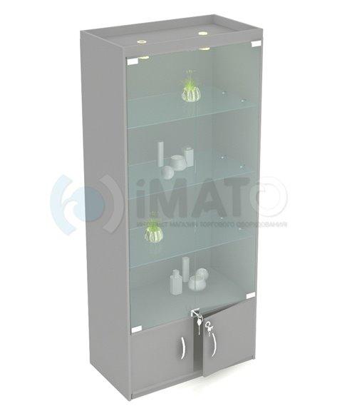 В-106-Д Стандартная витрина с подсветкой №106, стенка ДСП