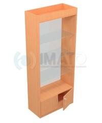 В-106 Витрина без стеклянной двери, задняя стенка стекло
