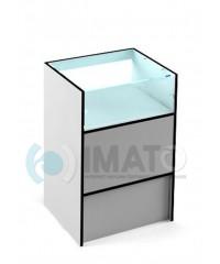 ПР-31-60 Прилавок торговый классический со стеклом