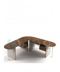 Комплект офисный стол широкий 2100х2100 угловой №1