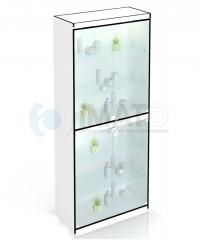 В-306-Д Витрина стеклянная с дверцами и подложкой