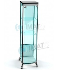 ВК-400-С LUX витрина стаканчик на хромированных ножках