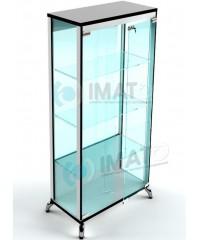 ВК-800-С LUX витрина широкая на хромированных ножках стеклянная