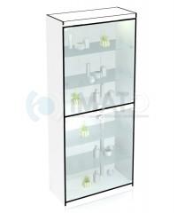 В-306-С Витрина стеклянная выставочная с дверцами