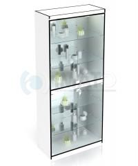 В-306-З Витрина стеклянная выставочная с дверцами и зеркалом
