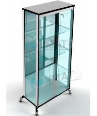 ВК-800-З LUX витрина широкая на хромированных ножках зеркальная