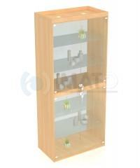 В-406-С Витрина стеклянная выставочная с дверцами