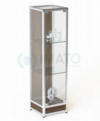 ВА-200 Д Витрина из алюминиевого профиля с подиумом и задней стенкой ДСП, цвет шимо