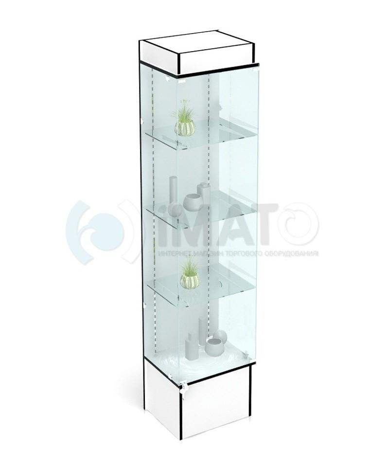 198 Стеклянная витрина из профиля