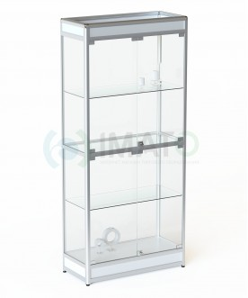 ВА-401 Витрина выставочная алюминиевая широкая с цоколем