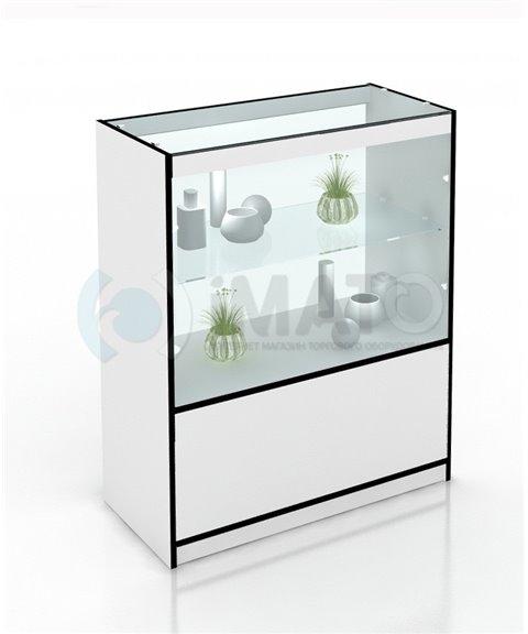 Прилавок торговый высокий со стеклом 100х40-85