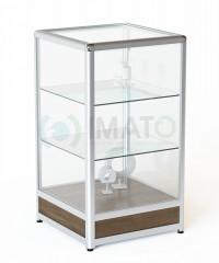 ПР-32-50А Прилавок из алюминиевого профиля со стеклом, цвет шимо