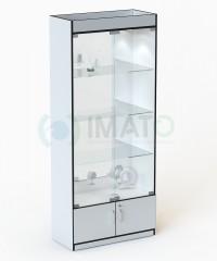 В-106-З Стандартная витрина с подсветкой №106, стенка зеркало
