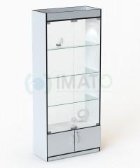 В-106-С Витрина с подсветкой, задняя стенка стекло
