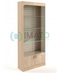 В-6-Э Стеклянная витрина с подсветкой и стенкой из экономпанели